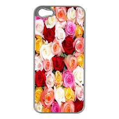 Rose Color Beautiful Flowers Apple iPhone 5 Case (Silver)