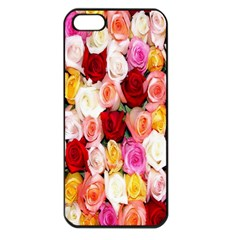 Rose Color Beautiful Flowers Apple iPhone 5 Seamless Case (Black)