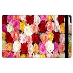 Rose Color Beautiful Flowers Apple iPad 2 Flip Case