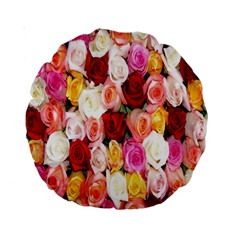 Rose Color Beautiful Flowers Standard 15  Premium Round Cushions