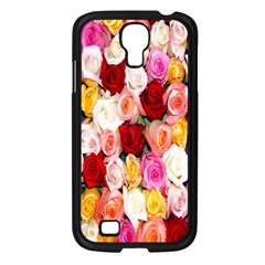 Rose Color Beautiful Flowers Samsung Galaxy S4 I9500/ I9505 Case (black)