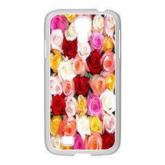 Rose Color Beautiful Flowers Samsung Galaxy S4 I9500/ I9505 Case (white)
