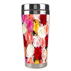 Rose Color Beautiful Flowers Stainless Steel Travel Tumblers