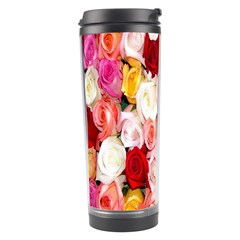 Rose Color Beautiful Flowers Travel Tumbler