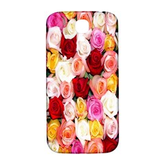Rose Color Beautiful Flowers Samsung Galaxy S4 I9500/i9505  Hardshell Back Case