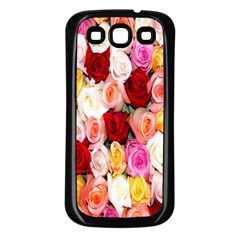 Rose Color Beautiful Flowers Samsung Galaxy S3 Back Case (black)