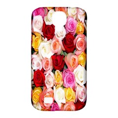 Rose Color Beautiful Flowers Samsung Galaxy S4 Classic Hardshell Case (PC+Silicone)