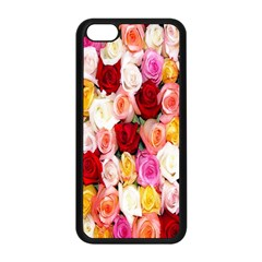 Rose Color Beautiful Flowers Apple Iphone 5c Seamless Case (black)