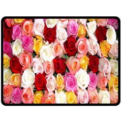 Rose Color Beautiful Flowers Double Sided Fleece Blanket (large)