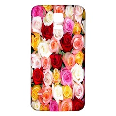 Rose Color Beautiful Flowers Samsung Galaxy S5 Back Case (white)