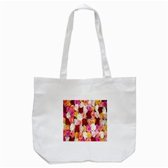 Rose Color Beautiful Flowers Tote Bag (white)