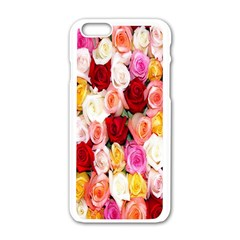 Rose Color Beautiful Flowers Apple Iphone 6/6s White Enamel Case