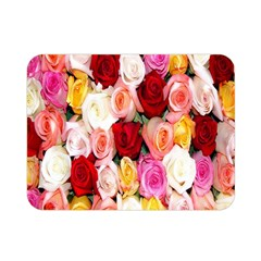 Rose Color Beautiful Flowers Double Sided Flano Blanket (mini)