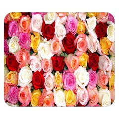 Rose Color Beautiful Flowers Double Sided Flano Blanket (Small)