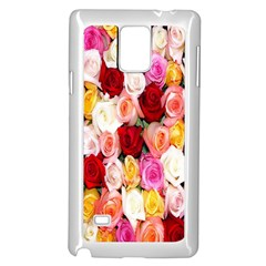 Rose Color Beautiful Flowers Samsung Galaxy Note 4 Case (white)