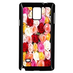 Rose Color Beautiful Flowers Samsung Galaxy Note 4 Case (Black)