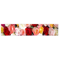 Rose Color Beautiful Flowers Flano Scarf (small)