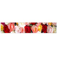 Rose Color Beautiful Flowers Flano Scarf (large)
