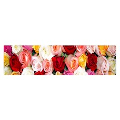Rose Color Beautiful Flowers Satin Scarf (oblong)