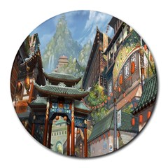 Japanese Art Painting Fantasy Round Mousepads