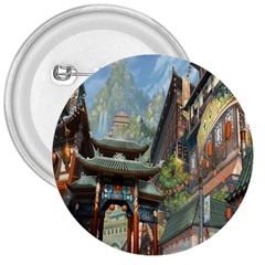 Japanese Art Painting Fantasy 3  Buttons