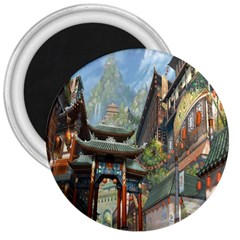 Japanese Art Painting Fantasy 3  Magnets