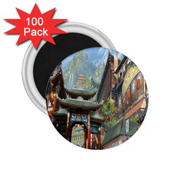 Japanese Art Painting Fantasy 2 25  Magnets (100 Pack)