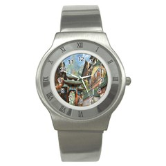 Japanese Art Painting Fantasy Stainless Steel Watch