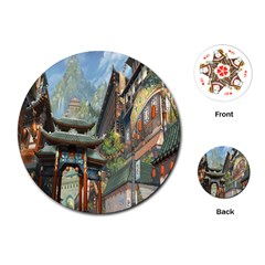Japanese Art Painting Fantasy Playing Cards (round)
