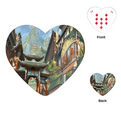 Japanese Art Painting Fantasy Playing Cards (heart)