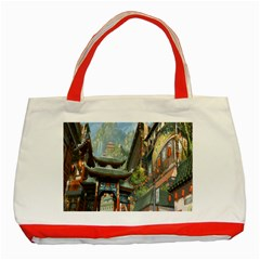 Japanese Art Painting Fantasy Classic Tote Bag (red)