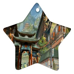 Japanese Art Painting Fantasy Star Ornament (Two Sides)