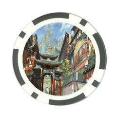 Japanese Art Painting Fantasy Poker Chip Card Guard