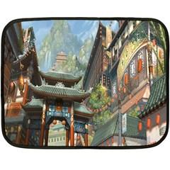 Japanese Art Painting Fantasy Fleece Blanket (mini)