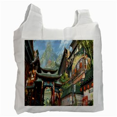 Japanese Art Painting Fantasy Recycle Bag (two Side)