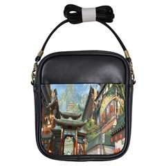 Japanese Art Painting Fantasy Girls Sling Bags