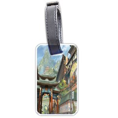 Japanese Art Painting Fantasy Luggage Tags (one Side)