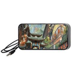 Japanese Art Painting Fantasy Portable Speaker (black)