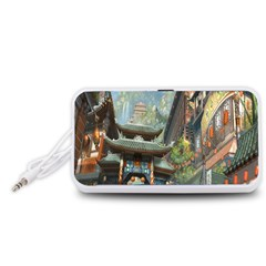 Japanese Art Painting Fantasy Portable Speaker (White)