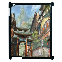 Japanese Art Painting Fantasy Apple iPad 2 Case (Black)