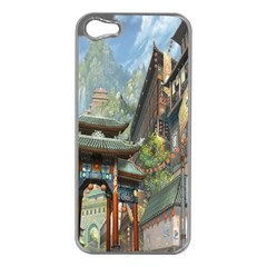 Japanese Art Painting Fantasy Apple iPhone 5 Case (Silver)