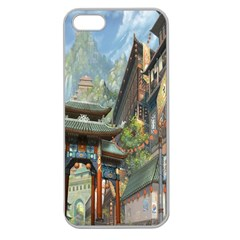 Japanese Art Painting Fantasy Apple Seamless Iphone 5 Case (clear)