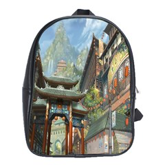 Japanese Art Painting Fantasy School Bags (xl)