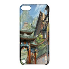 Japanese Art Painting Fantasy Apple Ipod Touch 5 Hardshell Case With Stand
