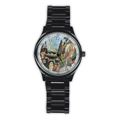Japanese Art Painting Fantasy Stainless Steel Round Watch