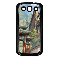 Japanese Art Painting Fantasy Samsung Galaxy S3 Back Case (black)