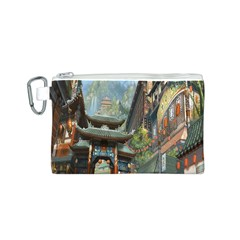 Japanese Art Painting Fantasy Canvas Cosmetic Bag (s)