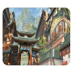 Japanese Art Painting Fantasy Double Sided Flano Blanket (small)