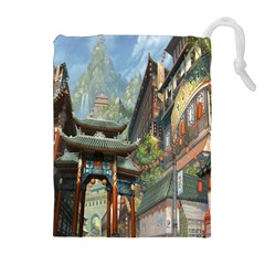 Japanese Art Painting Fantasy Drawstring Pouches (extra Large)