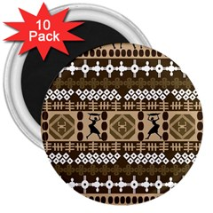 African Vector Patterns 3  Magnets (10 pack)